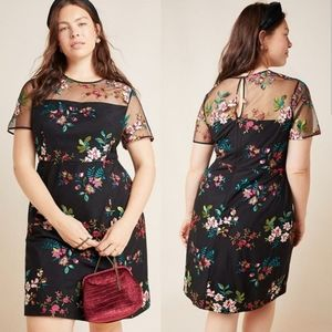 Anthropologie Talulah Embroidered Mini Dress, NWT
